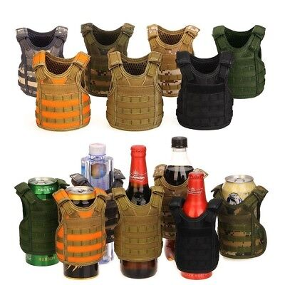 Military Tactical Beer Water Bottle Mini Molle Vest Carrier Holder Cover Outdoor
