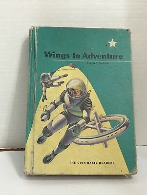 Vtg 1961 Ginn Basic Reader Wings To Adventure School Book