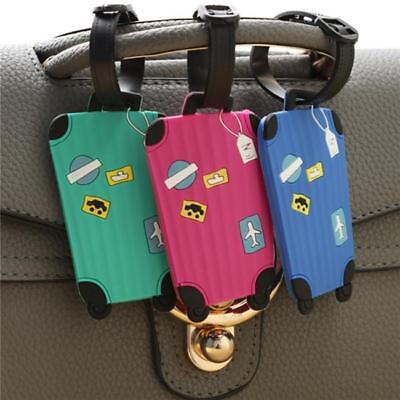 Cartoon Silicone Luggage Tags Baggage Suitcase Name ID Tag Travel Labels C