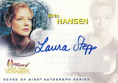 STAR TREK Women of Star Trek Voyager Laura Stepp 'Erin Hansen' Autograph Card