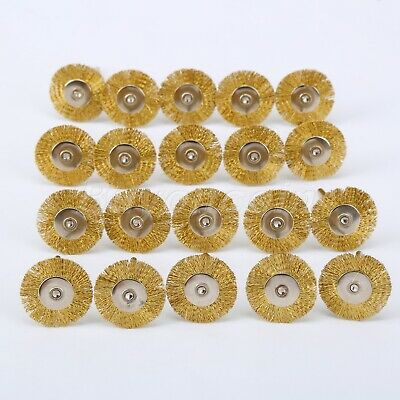 UK Wheel Brass Wire Brush Weld Drill Rust Die Grinder For Rotary Tool 20Pc