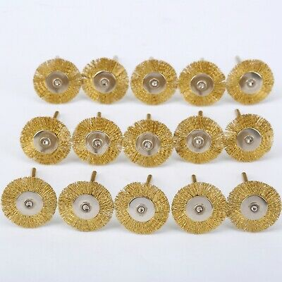 Brass Wheel Wire Brush Drill Rotary Tool Rust Weld 15Pc For Power Die Grinder UK