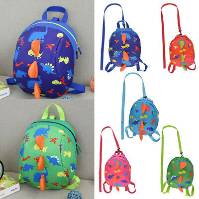 Kids Baby Safety Harness Backpack Leash Child Toddler Anti-lost Dinosaur Bag