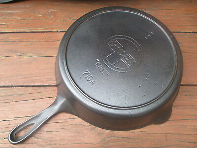"""""""fully Restored & Gorgeous!"""" Griswold #9 Slant/erie Cast Iron Heat Ring Skillet"""