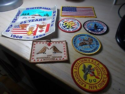 Fc2  Seven  Various Boy  Scouts Of America (Bsa) Badges  Canada Scout Badges