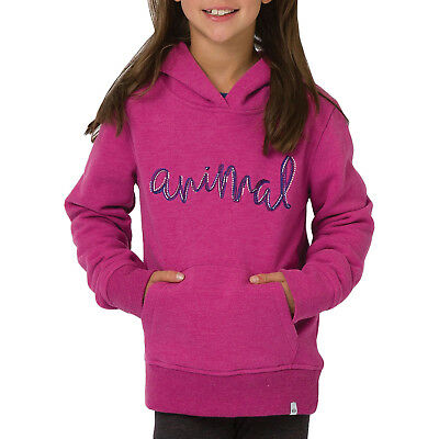 Animal Girls Kids Rachelle Long Sleeve Hooded Pullover Sweatshirt Hoodie