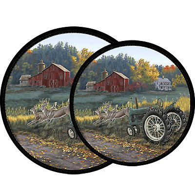 Best Electric Stove Top Range Round Morning Run Design Burner Covers Set of 4