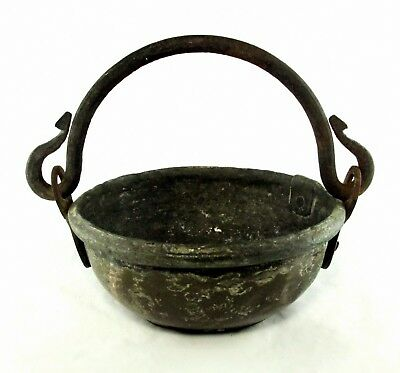 Vintage Weathered Pot Cast Iron Handle