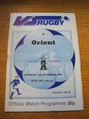 16/11/1985 VS Rugby v Leyton Orient [FA Cup] . No obvious faults, unless descrip