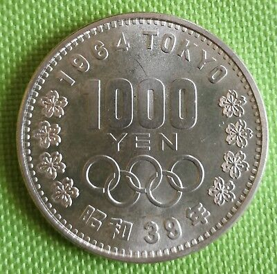 1000 Yen 1964 Tokyo Olympia alte Silber Münze Japan Hirohito