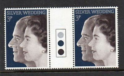 GB 1972 Silver Wedding traffic light gutter pairs MNH Unfolded stamps mint