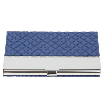 Stainless Steel Business Card Holder Name/Credit/ID Card Case Wallet / Blue
