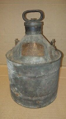 Rare Antique Vintage Sexton's Safety Gas Can 1915 Fire Police Massachusetts