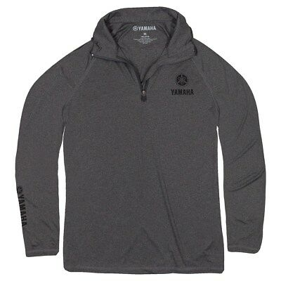Yamaha's 129 1/4-Zip Performance Pullover in Gray - Size XL - Genuine Yamaha