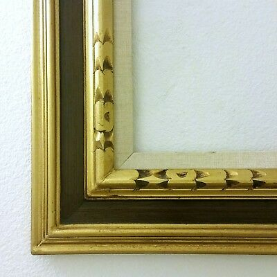 Mid Century Mexican Hand Carved Wooden Picture Frame Gold Gilt fits 14x18