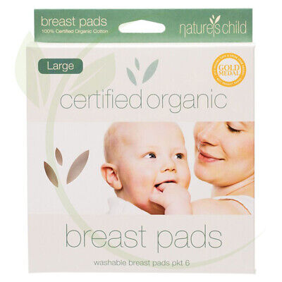 NATURES CHILD - Organic Cotton Reusable Breast Pads large pkt of 6