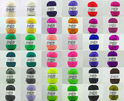 Crochet Hand-woven Knitting Cotton Wool Yarn Chunky Scores Skein DIY 63 Colors