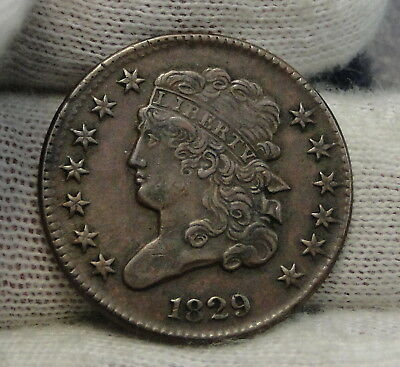 1829 Classic Head Half Cent - Very Nice Coin, Only 487,000 Minted (7575)