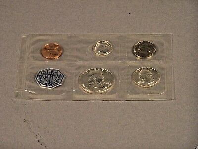 1963 Proof Set Sealed Philadelphia US Mint 5 Coins  90% Silver