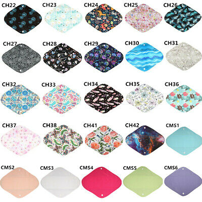 2018 NEW Cloth Mama Menstrual Pad Heavy Flow CHARCOAL Reusable Washable 12in L