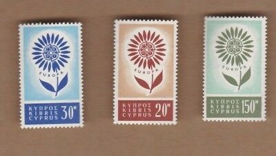 1964 Cyprus Europa SG 249/51 MUH Set of 3