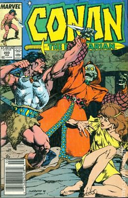 Conan the Barbarian (Marvel) Mark Jewelers #203MJ 1988 FN+ 6.5 Stock Image