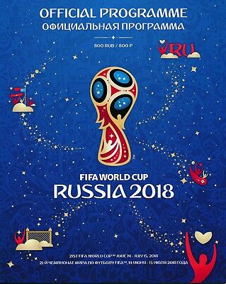 WORLD CUP FINALS 2018 RUSSIA - Official Tournament Programme - MINT CONDITION
