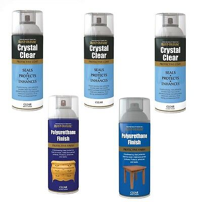 Protective Top Coat Protective Finish Crystal Clear Polyurethane Spray Paint