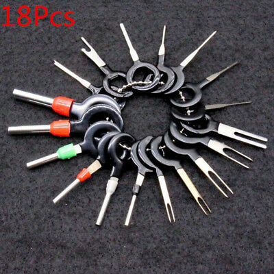 18Pcs/Set Car Wire Terminal Removal Wiring Connector Pin Extractor Puller Tools
