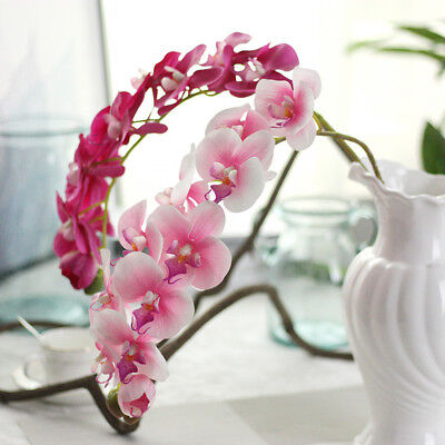 Artificial Fake Silk Flower Phalaenopsis Plant Orchid Floral Party Home Wedding
