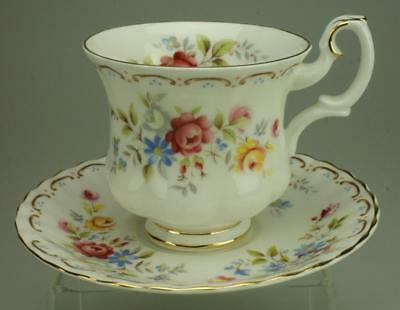 Jubilee Rose by Royal Albert Footed Cup & Saucer Set Crafted in England CS32c