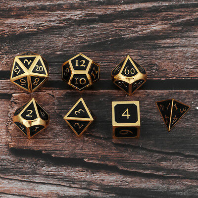 Metal Dice 16mm/ 0.62inch Dices Set for Dungeons &Dragons Table Games Toys A