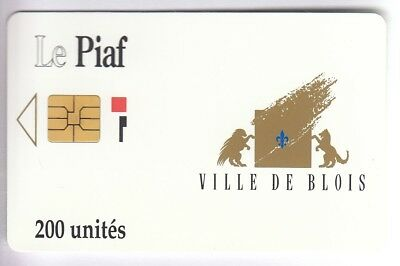 Piaf Parking Carte / Card .. Blois 200U So3 Iso M41020 1991 Be/bombee Chip/puce