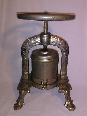 Antique French Duck (Wine, Fruit) Press, 1900's era, Culinary Table Side Press