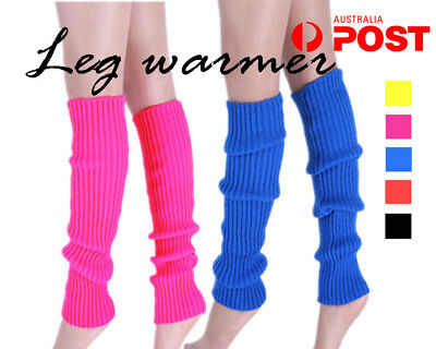 LEG WARMERS Legging Socks Knitted Women Costume Dance Disco 80s Party Knit AY