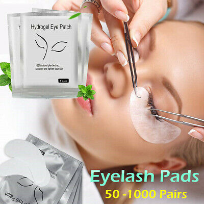 50~1000 PAIRS Under Eye Curve Eyelash Pads Gel Patch Lint Free Lash Extension AY