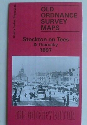 Old Ordnance Survey Detailed Maps Stockton on Tees & Thornaby Co Durham 1897