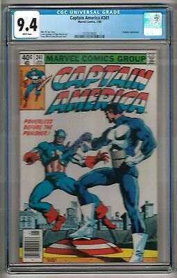 """Captain America #241 (1980) CGC 9.4 White Pages  Miller - Barr  """"Punisher"""""""