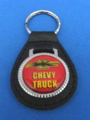Chevy Truck Key Chain Black Leather Fob 799 Picclick