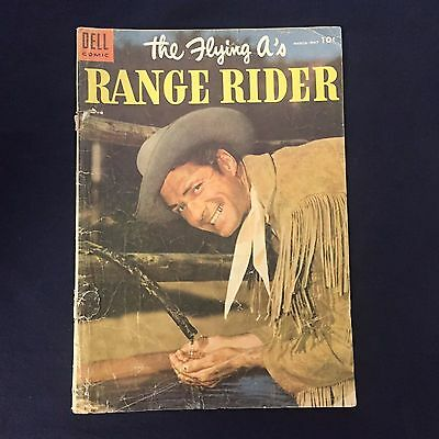 Dell Comics The Flying A's Range Rider #9 1955 Comic Book Gd- Cond Reader