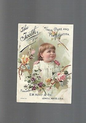 Collectible Antique 1891 THE TEETH Victorian Illustrated Advertising Booklet