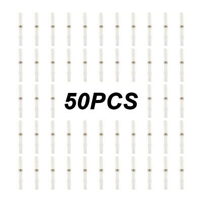 50pcs Solder Sleeve Heat Shrink White Wire Connector Terminal with Box BI1046