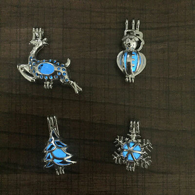 Christmas Snowflake Glow in the Dark Bat Luminous Women Pendant For Necklace BS