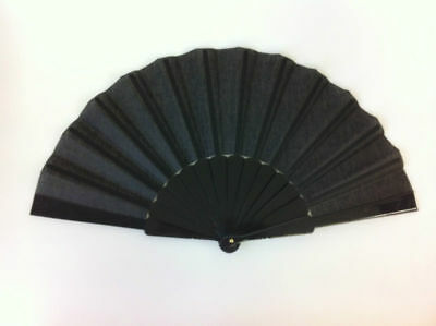 Black Hand Plastic Fan and Fabric UK