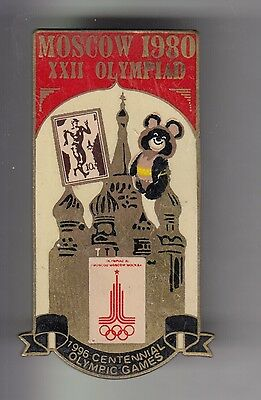 Rare Pins Pin's .. Olympique Olympic Atlanta 96 Moscou 1980 Big 3D Russie ~17