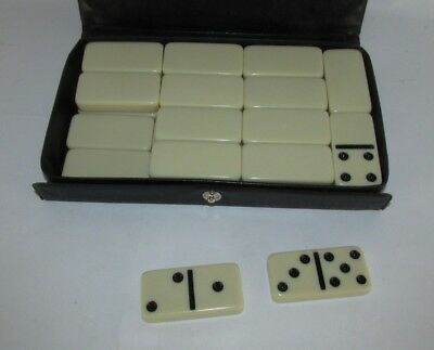 Vintage Cardinal NY Bakelite Domino Dominoes Game Simichrome tested real w box
