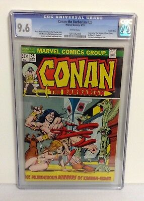 Conan The Barbarian #25, 1973 Marvel Cgc 9.6 Nm+ White Pages Suscha News Copy