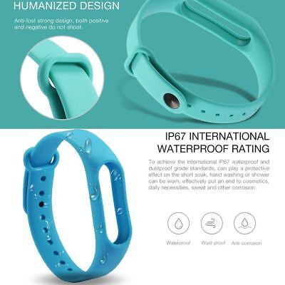 Candy Color Bracelet Silicone Replaceable Wrist band Strap For Xiaomi Mi 2