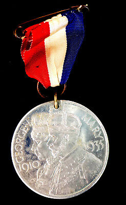 Medalla King George V & Queen Mary  silver jubile Leicester Lord Mayor Grimsley