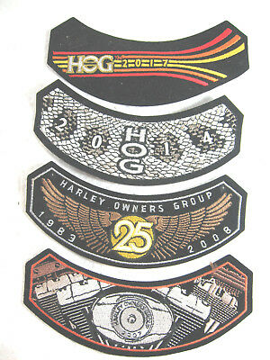 4 HARLEY OWNERS GROUP PATCH LOT 2007,2008,2014,2017, MOTORCYCLE, unused, NEW